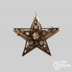 "Брошь ""Звезда"" с бриллиантами"